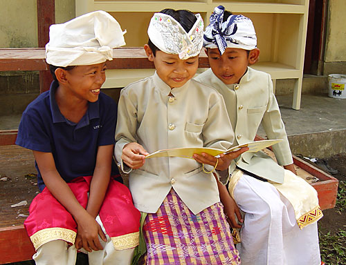 Students in ceremonial dress